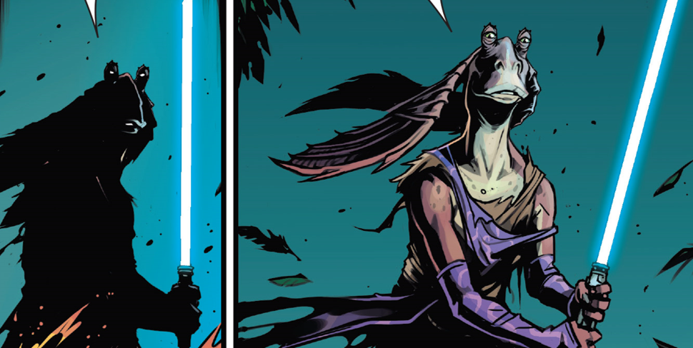 Jar Jar Binks Wields A Lightsaber In The Latest Star Wars Age Of Republic Comic And It S Pretty Bombad